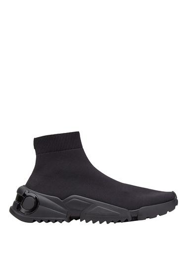 Salvatore Ferragamo Salvatore Ferragamo  Çorap Formlu Erkek Sneaker 101569111 Siyah
